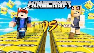 SZALONY WYŚCIG! - MINIONKI LUCKY BLOCKI MINECRAFT (Minions Lucky Block Race) | Vito vs Bella