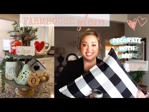 FARMHOUSE GLAM DECOR + HAUL | VALENTINES AND SPRING DECOR | JESSICA O'DONOHUE