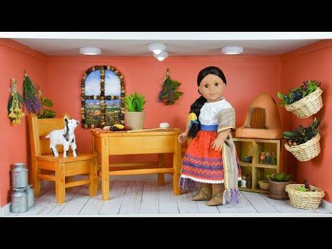 Setting Up Josefina's House - American Girl Doll House Tour