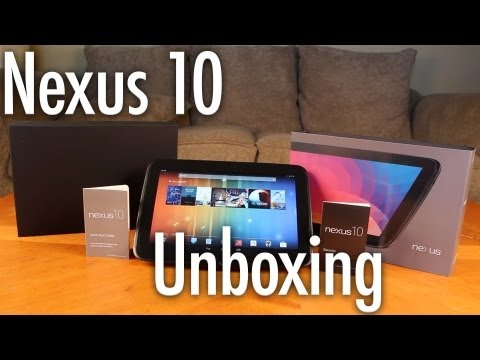 New Google Nexus 10 Unboxing and Specifications