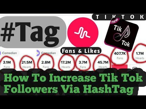 How to increase Musically / Tik tok Followers, likes Via HashTag in Hindi
