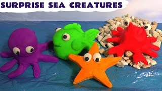 Play Doh Surprise Sea Creatures Cars Spongebob Thomas and Friends Jake Surprise Toys Play-Doh