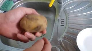 Как приготовить запеченную картошку в мундире в микроволновой печи