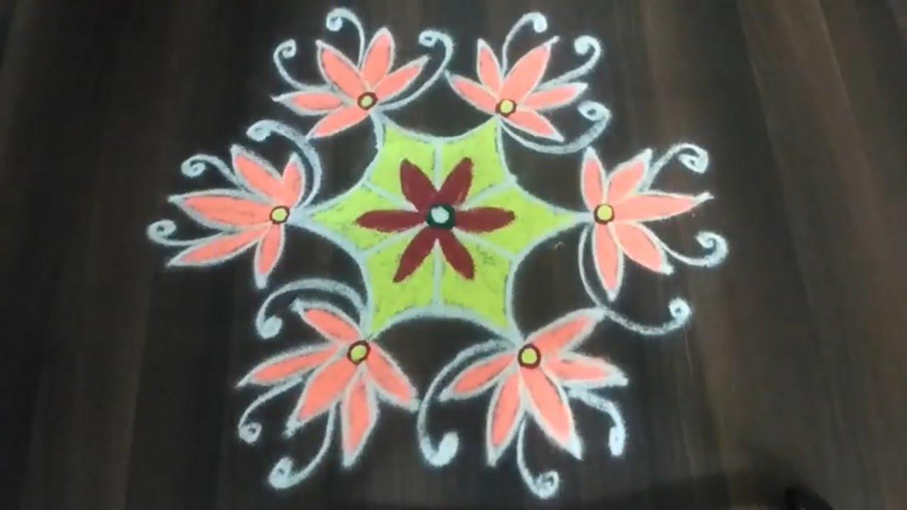 Aadi matham Special Kollam // Easy Rangoli // Pandaga Muggulu //रंगोली