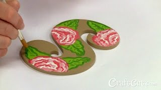 How To Paint A Tropical Flower Pattern On Wood Letters