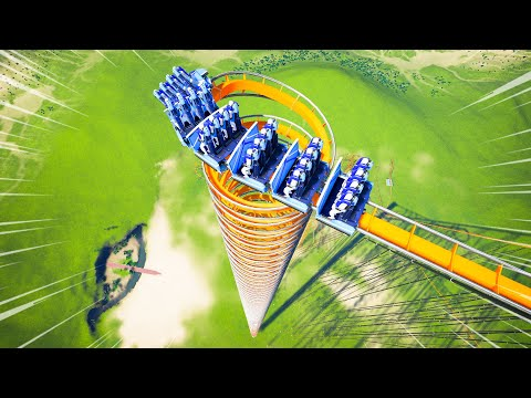 The Worlds Most INSANE Stand Up Roller Coaster... In Planet Coaster! |