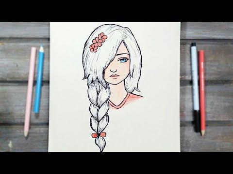 رسم سهل تعليم رسم بنت سهل بطريقة سهلة وبسيطة رسم بنات كيوت