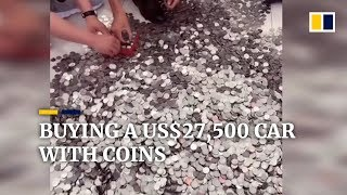 Chinese businessman buys US$27,500 car with 66 bags of coins