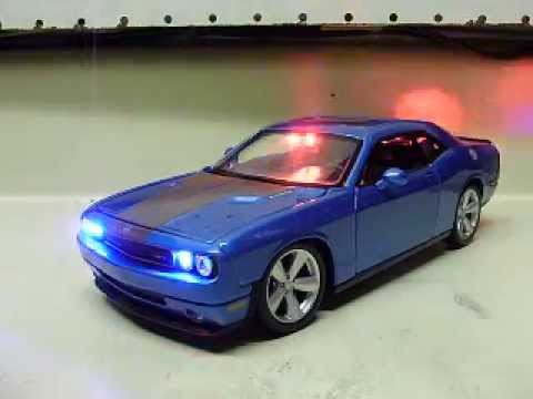 Custom 1 24 Scale Dodge Challenger Police Car W Working