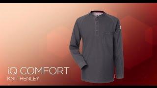 Bulwark FR Mens Iq Series Comfort Knit Fr Henley