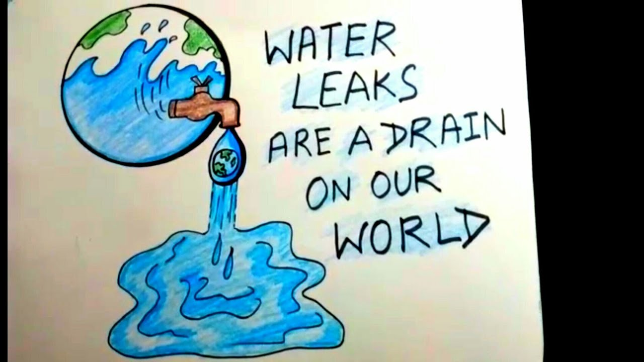 Easy Drawing For Water Conservation Save Earth Save Water Drawing Poster For Kids Youtube