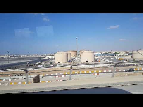 DXB air port view Emirates Metro station to Rashidiya Mtro station