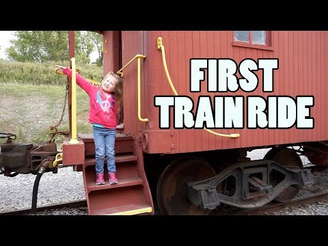Kids First Real Train Ride!