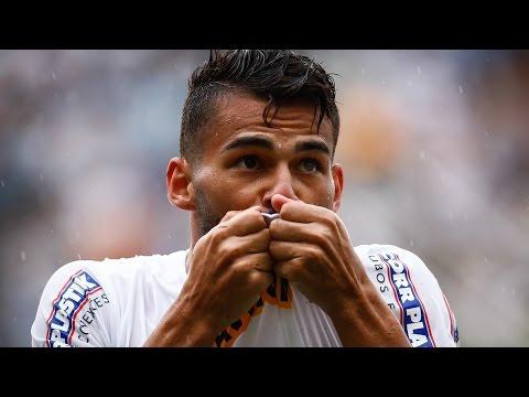 Santos 2 x 1 Palmeiras | GOLS | Brasileirão (01/11/15)