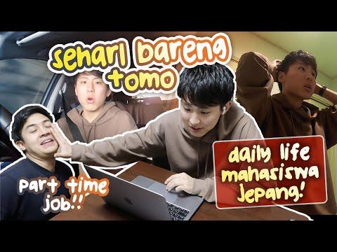 SEHARI BARENG TOMO! | A DAY IN LIFE MAHASISWA JEPANG + PART TIME JOB