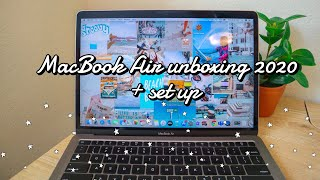 Unboxing MacBook air 2020 13 inch and set up (space gray)