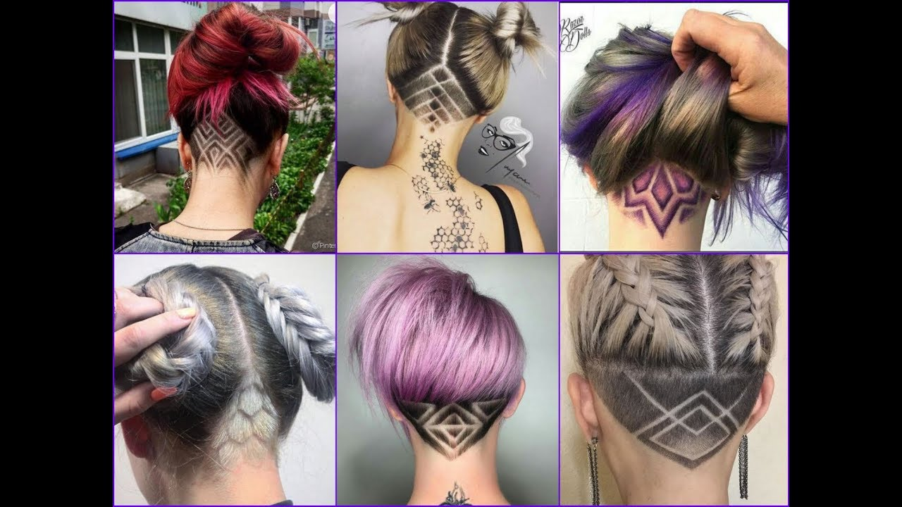 Top 35 Best Nape Undercut Design Ideas 2018 Nape Shave Haircut For Women