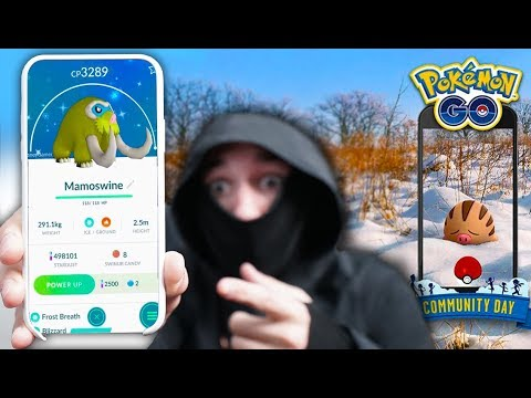 SHINY MAMOSWINE IN POKÉMON GO! FIRST TIME This Has Ever Happened! thumbnail