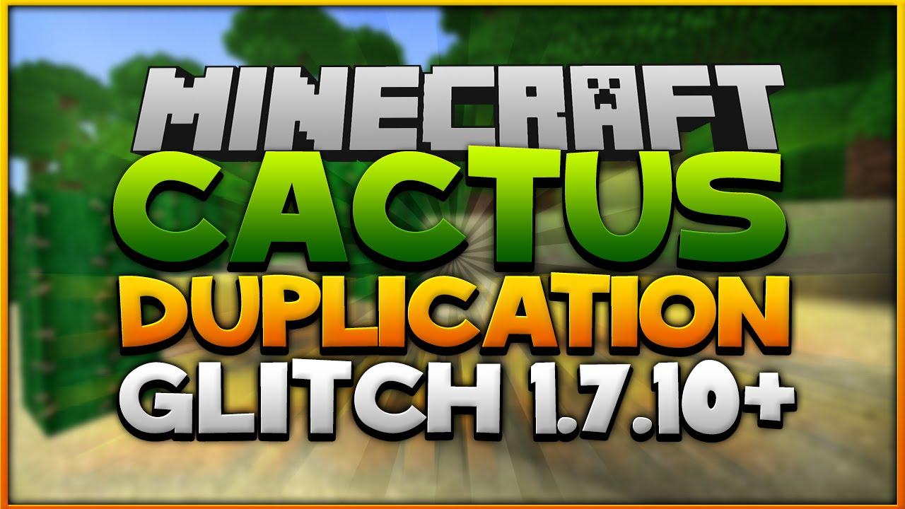 Minecraft: Cactus Duplication TUTORIAL [1 7 10]