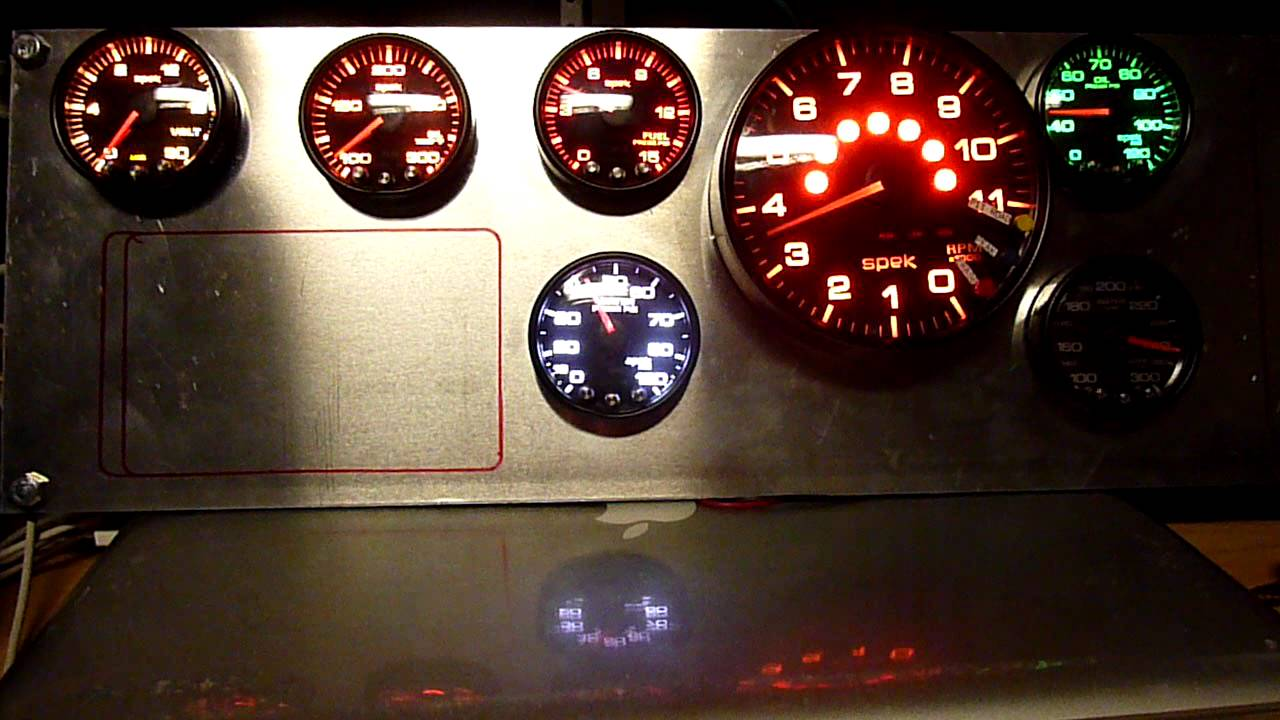 Spek Tach Wiring Diagram Schemes Car Tachometer Full Dash Of Proparts Gauges Youtube Autogage