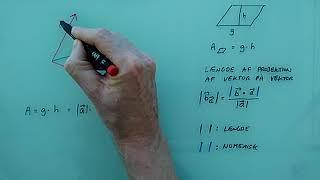 Areal af parallelogram udspændt af to vektorer