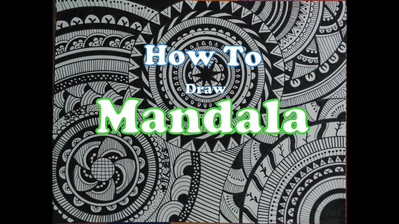 Mandala Art How To Draw Doodle For Beginners Doodling Tutorial Design Drawing Step By