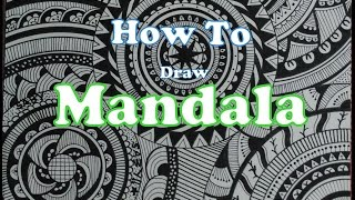 How To Draw Complex Mandala Art Design For Beginners, Easy Tutorial Doodle Drawing Step By Step