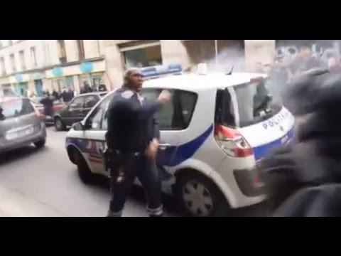 Paris: Streifenwagen nach Demo-Verbot brutal attackiert