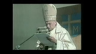 BBC News report on the death of Pope John Paul II