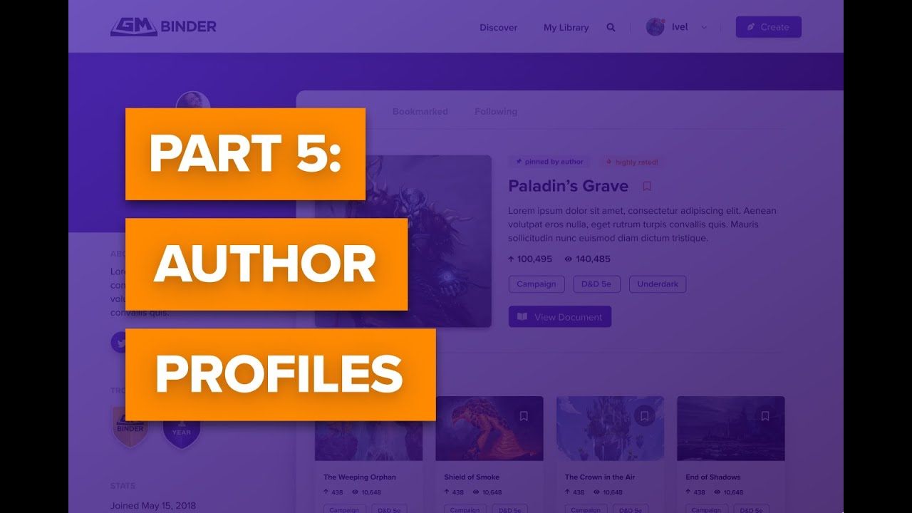 What Is Gm >> What Is Gm Binder Part 5 Author Profiles