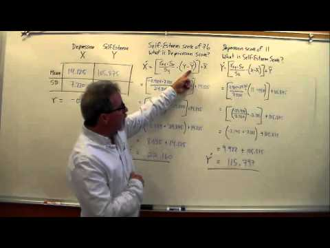Calculating Linear Regression Predicted X and Predicted Y
