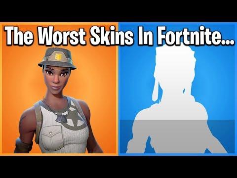 TOP 10 WORST SKINS IN FORTNITE (trigger Warning)