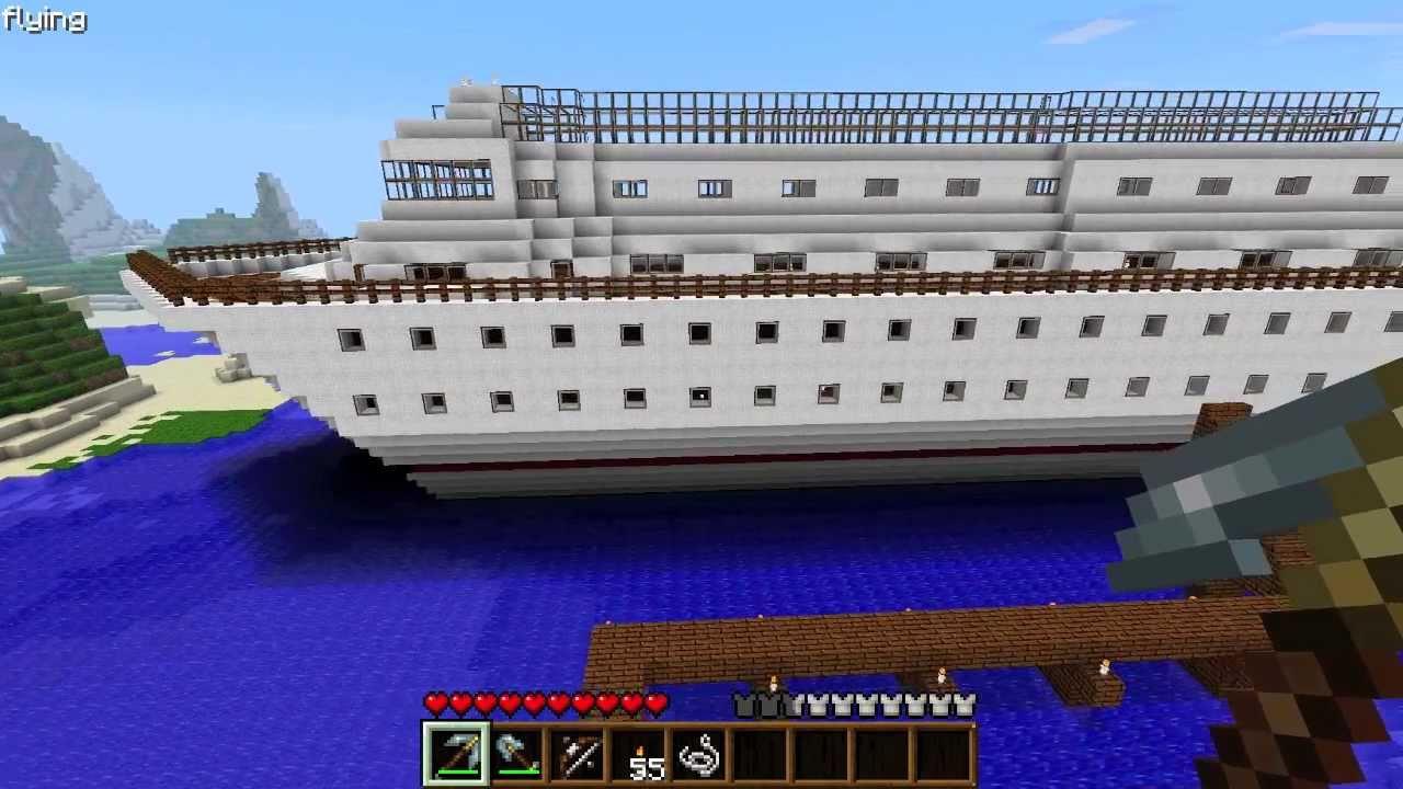 Minecraft Cruise Ship HUGE  YouTube