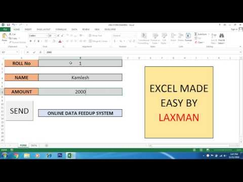 Data Feed up System in Excel