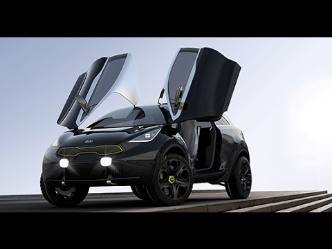 Kia hybrid niro 2014 suv butterfly doors in detail Wing motors automobiles