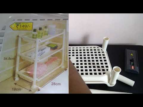 D MART Shopping haul | Plastic storage Rack- Kitchen,Bath stand,Corner shelf- Home Organization from YouTube · Duration:  1 minutes 29 seconds