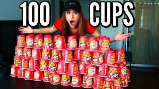 100 CUPS OF COFFEE! Roll Up The Rim To Win! Lottery Jackpot Challenge