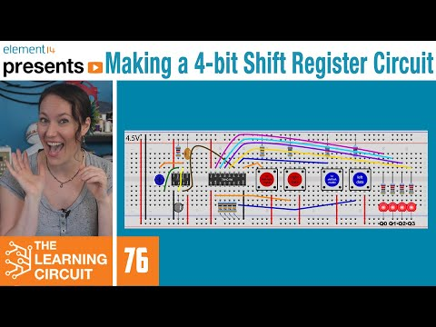 How to Make a 4-bit Shift Register Circuit - The Learning Circuit