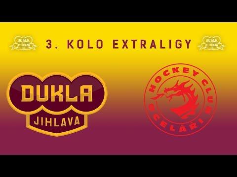 3. kolo (12.9.2017) HC Dukla Jihlava - HC Oceláři Třinec