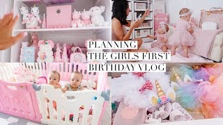 PLANNING THE GIRLS FIRST BIRTHDAY VLOG!🎂 SLMissGlamVlogs💕