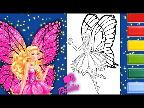 Barbie Mariposa and the Fairy Princess coloring pages , coloring ... | 360x480