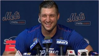 Tim Tebow reports to Port St. Lucie for the New York Mets spring tr...