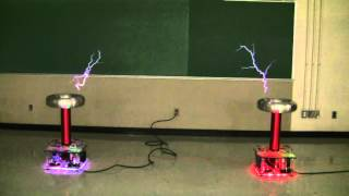 Testing of AEE's Dual Tesla Coil Speakers - Nov. 3, 2015
