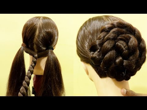 High Bun Juda Hairsytles | Easy wedding hairstyle | Easy Bun | Quick Hairstyle | KGS Hairstyles thumbnail