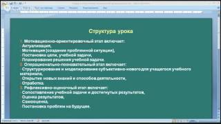 Структура урока (Методика Обучения Математике)