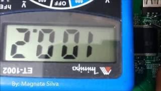 Como Testar Resistor SMD  Na Placa Analisando o Esquema