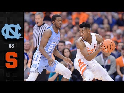 North Carolina vs. Syracuse Basketball Highlights (2017-18)