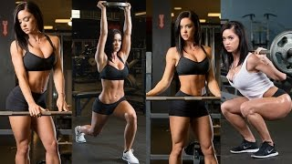 Katy Hearn Gym Workout Routine - Beautiful Bikini Girl