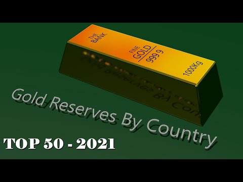 Gold Reserves by Country 2021 - The 50 Countries with The Largest Gold Reserves in the World