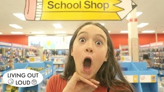 Shop With Me For Back To School Supplies | Shopping & Hauls | Living Out Loud Vlog
